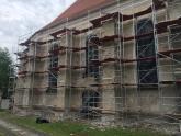 Remont elewacji kościoła 2017 (3)