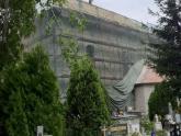 Dach kaplicy św. Barbary w trakcie remontu (4)