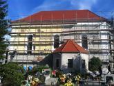 Elewacja kaplicy św. Barbary w trakcie remontu (3)